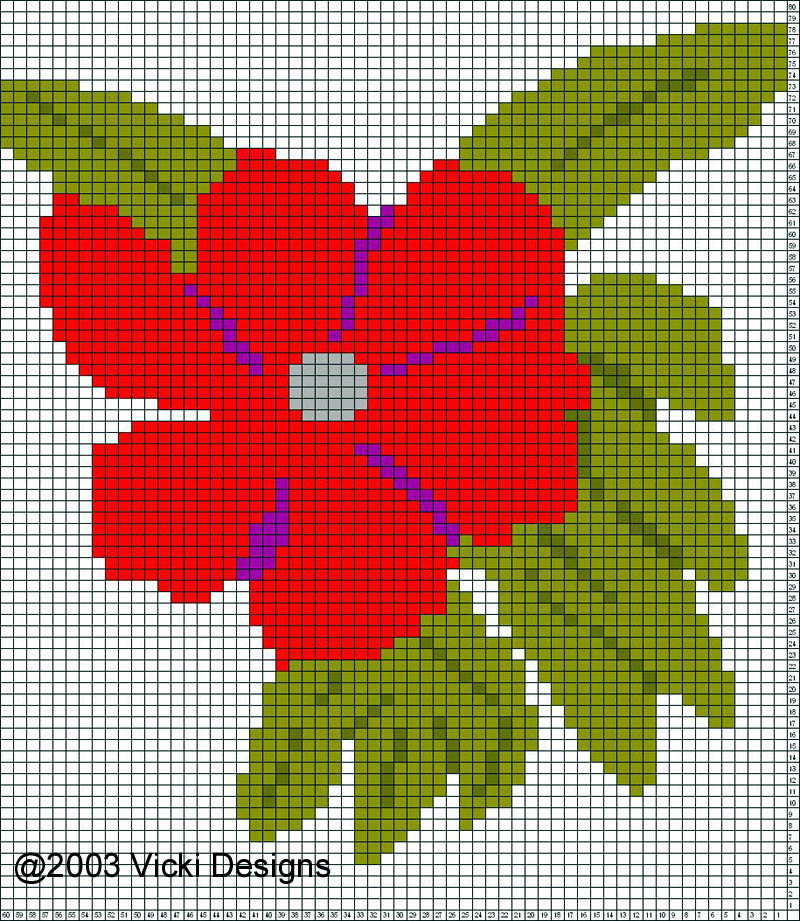 Knitting Charts Flowers : Flower