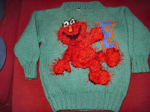 Elmo Knitting Pattern : Elmo Sweater Knitting Patterns - Cardigan With Buttons
